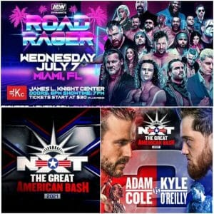 NXt The Great American Bash 2021 AEW Dynamite Road Rager