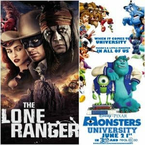 Monsters University Review and The Lone Ranger Review