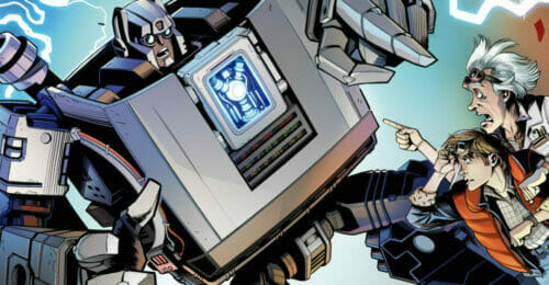 Transformers/Back to the Future Comic