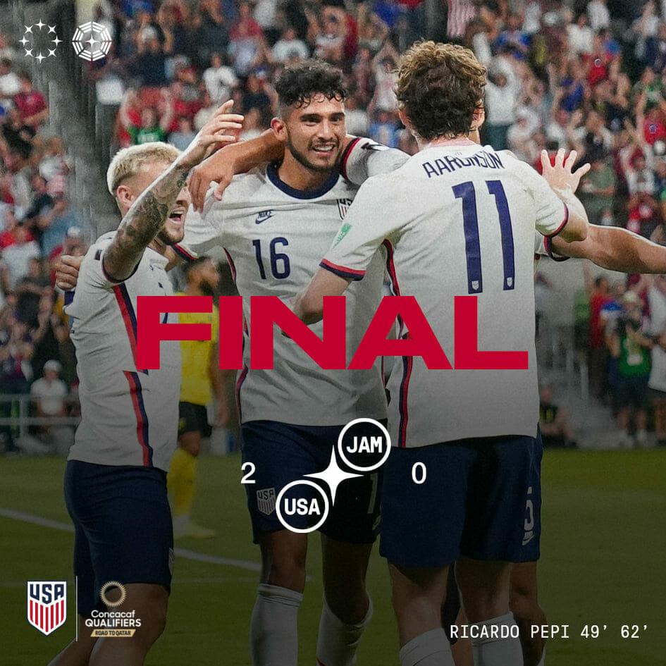 USA vs Jamaica (2-0): 2022 WCQ Round 4: All Aboard the Pepi Train