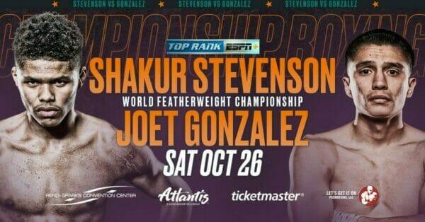Shakur Stevenson vs Joet Gonzalez Alternative Commentary